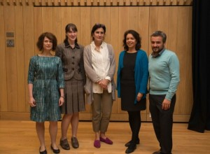Representatives from the sub-faculties: Carolin Duttlinger (German); Jennifer Rushworth (Italian); Xon de Ros (Spanish); Claudia Pazos Alonso (Portuguese); and Dimitris Papanikolaou (Modern Greek).